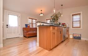 Natural Maple Hardwood Flooring In A Kitchen