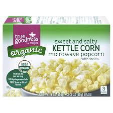 Meijer Artificial Christmas Trees by True Goodness Organic Microwave Popcorn Sweet U0026 Salty Kettle Corn