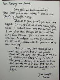 A letter from my daughter on her graduation day 3 years ago