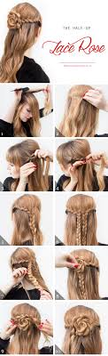 Lace Braid Half Up Hair Tutorial This Style Is Actually Fairly Simple