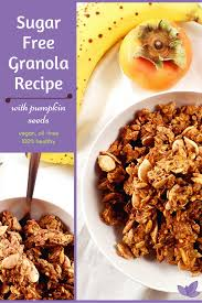 Desserts With Pumpkin Seeds by Vegan Sugar Free Granola Recipe With Pumpkin Seeds Carob Cherub