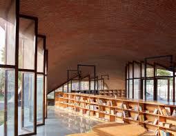 100 Brick Ceiling Sameep Padora Creates Undulating Brick Roof To Cover Indian School