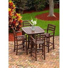 5 Piece Bar Height Patio Dining Set by Patio Furniture Bar Height Dining Set Mainstays Palmerton Landing
