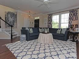 living room with hardwood floors flush light in fort mill sc