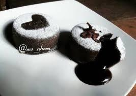 steamed chocolate lava cake