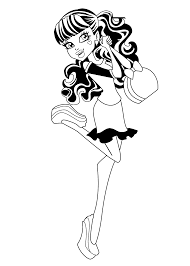Draculaura Monster High Coloring Pages For Kids Printable Free