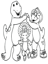Barney And Baby Bop Coloring Book Friends Pages Free Printable Amazon Full Size