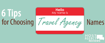 Save Choosing A Travel Agency Name
