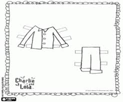 Charlie In Pyjamas Dress Up Game The Brothers And Lola Coloring Page