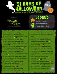 Watch Halloween 2 1981 by 31 Days Of Halloween 2017 Horror Movie Marathon List Printable