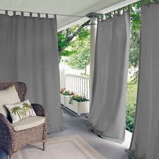 Green Striped Curtain Panels by Outdoor Curtains U0026 Drapes Window Treatments The Home Depot