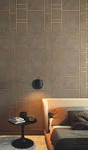 tapete gold braun linien metallic grafisch industrial