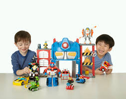 Transformers Rescue Bots Playskool Heroes Optimus Prime Fire Station ...