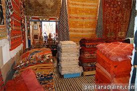 magasin de tapis marchand de tapis à essaouira maroc voyages en images