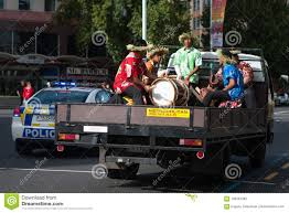 100 Truck Band NEW ZEALAND AUCKLAND APRIL 3 2016 Maori Music Plying