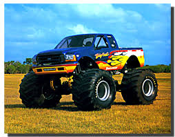 Bigfoot Monster Truck Racing Car Poster | Monster Truck Posters ...