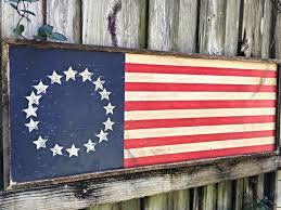 These Patriotic Handmade American Flags Are Perfect For Your Summertime Decor Bright Cheery And Full Of PRIDE Red White Blue Paint On A Solid