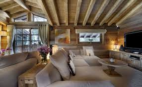 FurnituresRecamable Rustic French Style Wooden Ceiling And Beige Comfort Sofa Idea Country
