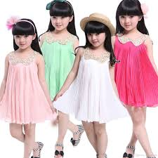 best s5q new girls kids baby sequin pleated skirt chiffon party
