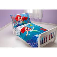 disney little mermaid ocean princess 4pc toddler bedding set