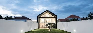 100 Architecture Gable Maria Fradinho Articulates The Arch House With Large Gable