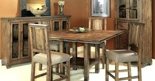 Rustic Counter Height Dining Table Square
