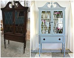 Heir and Space A Vintage Federal Mahogany China Cabinet in Gray