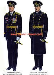 Soviet Power Naval Fleet ficers summer parade uniforms