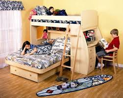 Berg Furniture Sierra Twin over Full Loft Bed with Desk and Ladder