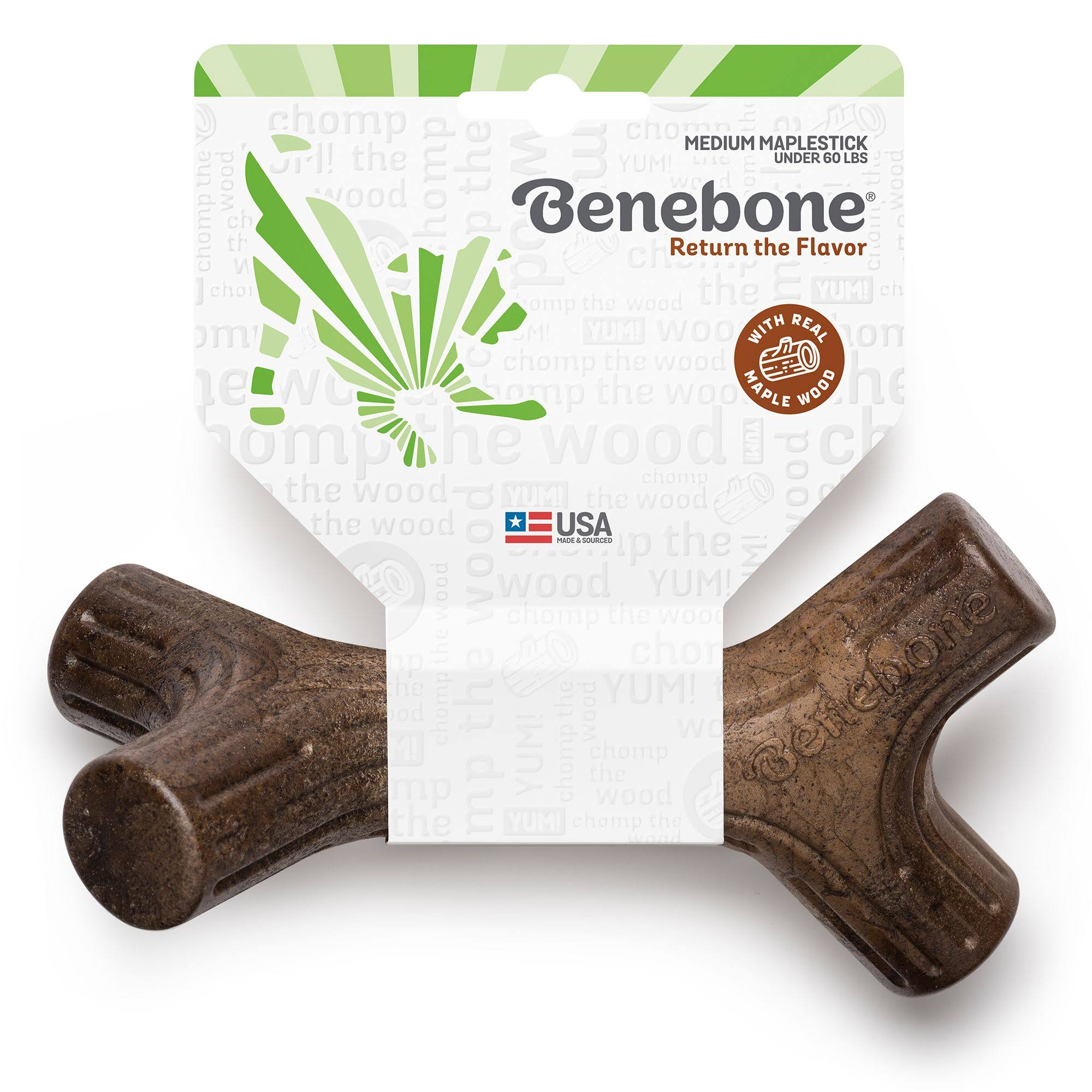 Benebone Maplestick Dog Chew Toy, Medium