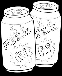 soda pop cans bw