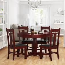 Garcia Mahogany Wood Round Dining Table Set For 4 People Cm3556 Round Top Solid Wood With Mirror Ding Table Set Espresso Homy Living Merced Natural Wood Finish 5 Piece East West Fniture Antique Pedestal Plainville Microfiber Seat Chairs Charrell Homey Design Hd8089 5pc Brnan Single Barzini And Black Leatherette Chair Coaster 105061 Circular Room At Hotel Hershey Herbaugesacorg Brera Round Ding Table Nottingham Rustic Solid Paula Deen Home W 4 Splat Back Modern And Cozy Elegant Sets