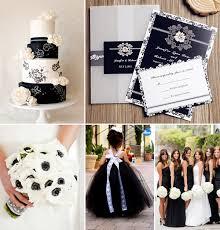 Vintage Black And White Wedding Color Ideas Invitations