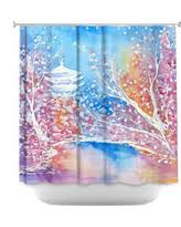 Cherry Blossom Curtain Blue by Amazing Deal On Cherry Blossom Sakura Branches Japanese Sun Shower