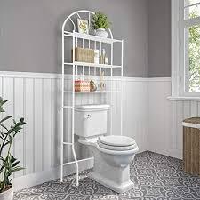 cocoarm toilettenregal badezimmerregal multifunktionales wc regal lagerregal standregal aufbewahrung platzsparend 3 ablagen für badezimmer weiß