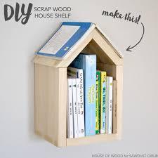 DIY Scrap Wood House Shelf Sawdust Girl Easy Diy ProjectsProjects