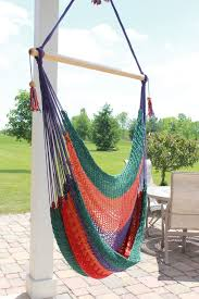 Nicaraguan Multi Color Hammock Swing Chair