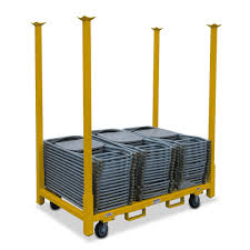 Folding Chair Carts Lifetime by Folding Chair Rack Storage Home Chairs Table And Chair Carts