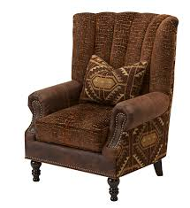 Massoud Rustic Fabric And Leather Chair Western Accent Chairs