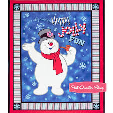 Frosty The Snowman Christmas Tree Theme by Frosty The Snowman Fabric Fat Quarter Shop