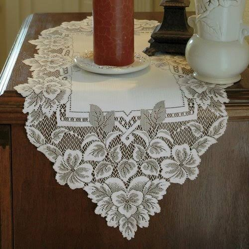 Heritage Lace Heirloom Runner, White