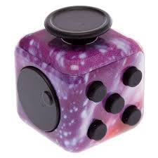 Purple Galaxy Stars Fidget Cube