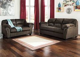 iDeal Furniture Farmingdale Kinlock Chocolate Sofa and Loveseat