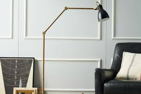 5 Modern Industrial Floor Lamps That Bring Style And Lighting Floor Lamp With Crystal Shade And Lights Brass Standing Lamps Living Room Remarkable Pottery Barn Style Just Magnificent 2 Bulb Lantern Shopgoodwillcom Unmarked Vintage Similar But Christmas In The Family Room The Sunny Side Up Blog Kitchen Ideas Island Bench Outstanding White Curvy For Which Is 50 Off Antique Mercury Glass Table Family Upstairs Arthur Sectional Sarahs