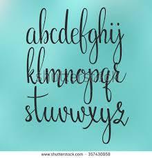 Handwritten Brush Style Modern Calligraphy Cursive Font Alphabet Cute Letters For