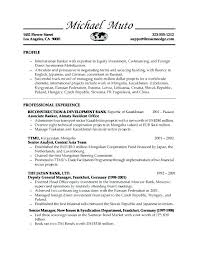 Business Banker Resume This Is Template Example Examples Of Resumes Investment