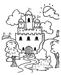Castle Landscape Coloring Pages