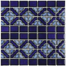 Home Depot Merola Penny Tile by Merola Tile Tower Cobalt Delta 12 In X 12 1 2 In X 5 Mm