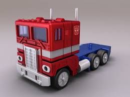 100 Optimus Prime Truck Model 3D Model G1 Toy CGTrader