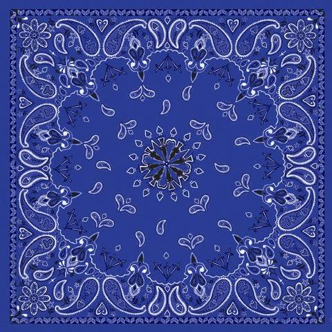 "Balboa 100 Cotton Bandanna - Navy, 22"" X 22"""